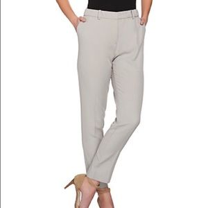 H by Halston Stretch Twill Fly Front Ankle Pants 2